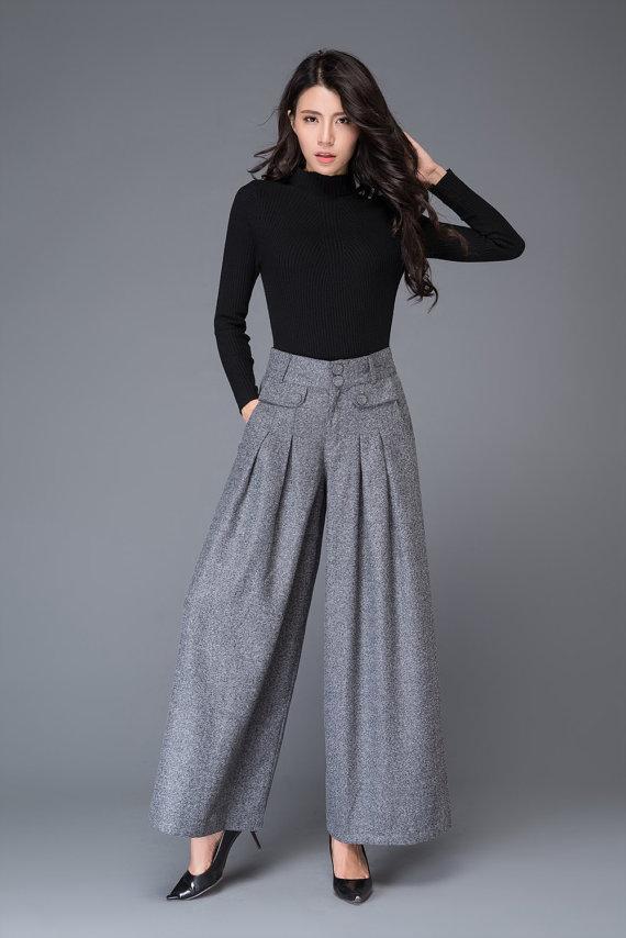 winter capsule wardrobe,women wear woolen pants