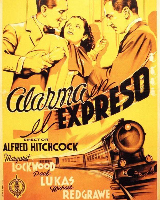Alarma en el expreso (1938, Alfred Hitchcock)