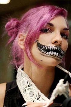 body paint monster mouth and fuscia hair.jpg