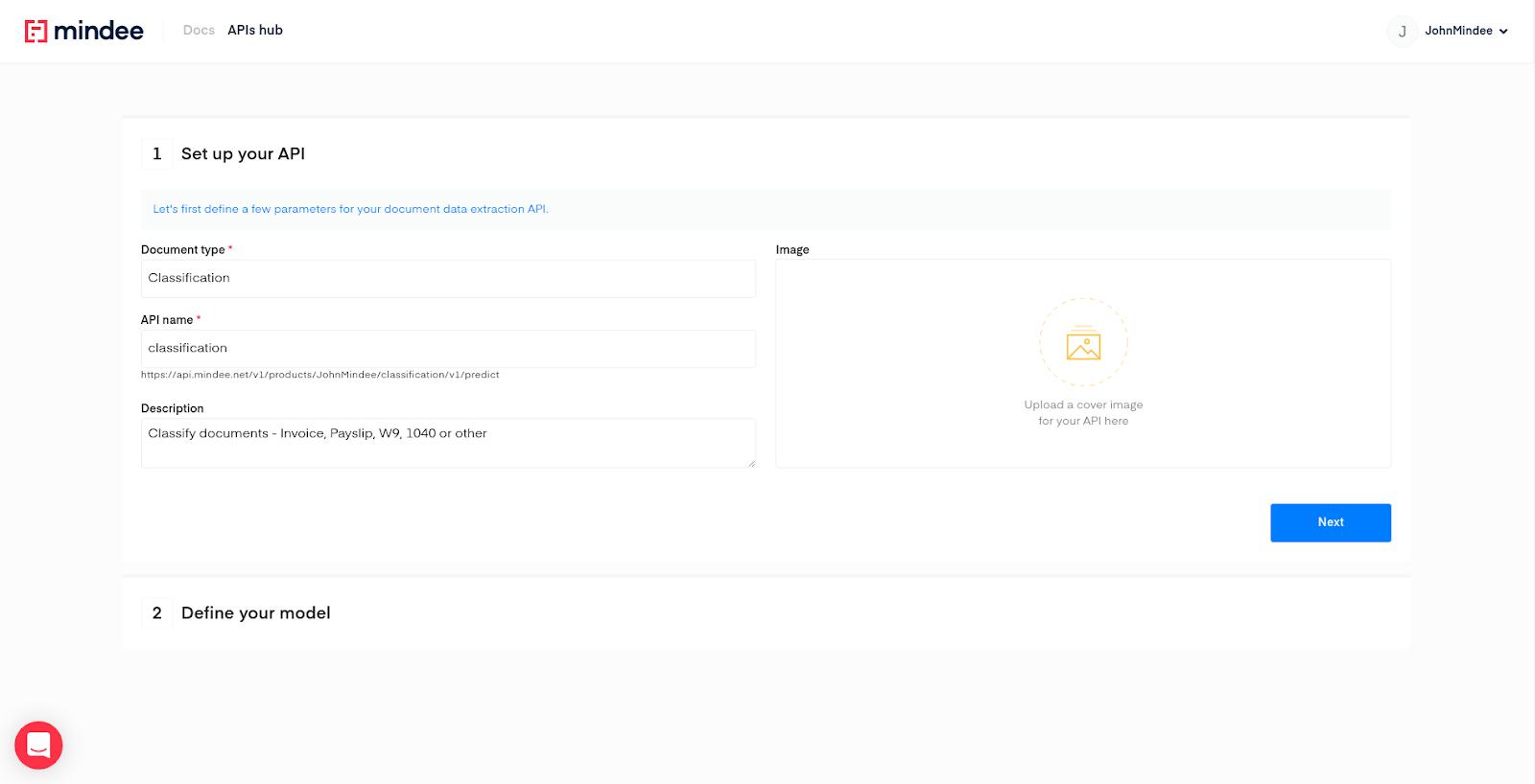 Mindee API Builder