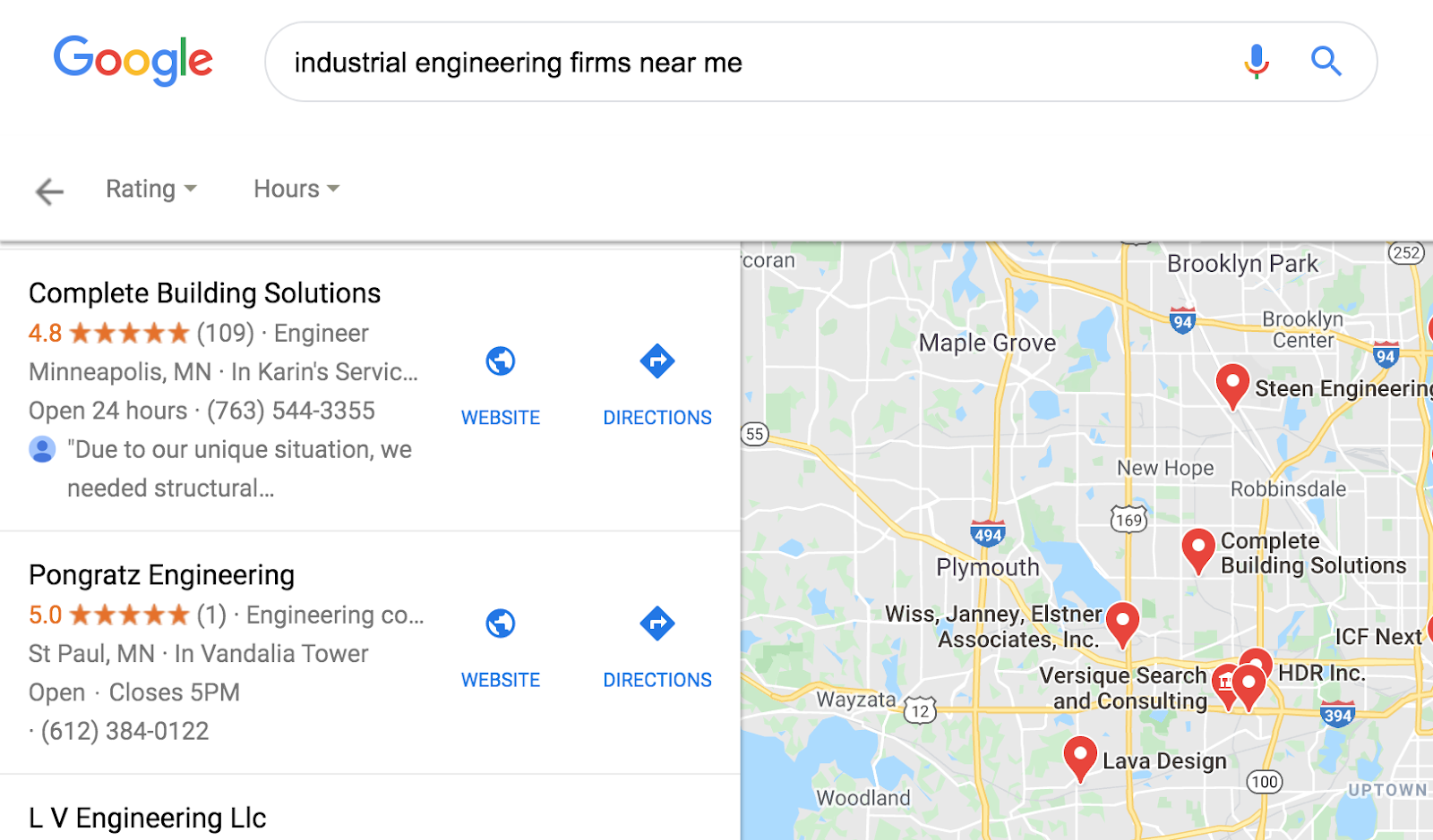 Industrial engineering firms near me