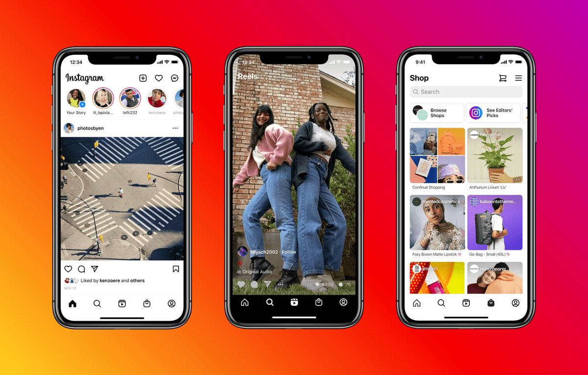 Instagram's functions demonstration