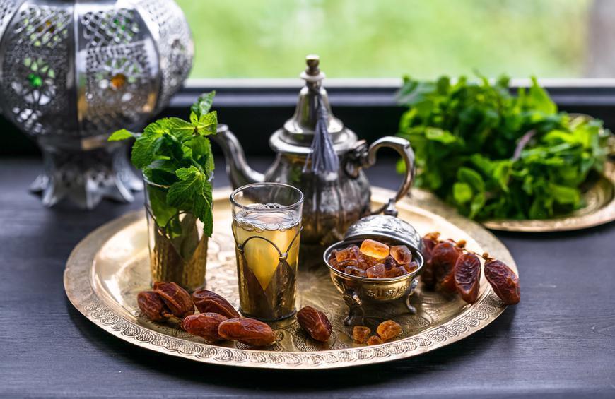 Maghrebi mint tea