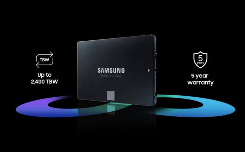 Ổ cứng SSD Samsung 870 EVO 250GB (MZ-77E250BW)   Độ bên và độ tin cây cao