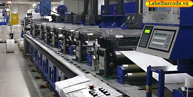 Công nghệ sản xuất giấy in mã vạch theo dây chuyền hiện đại