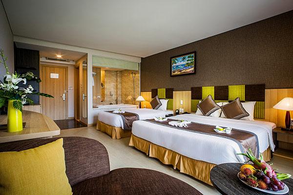 Tiện nghi trong phòng ngủ phụ thuộc vào chất lượng sao của khách sạn đó