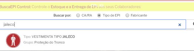 jaleco é considerado EPI