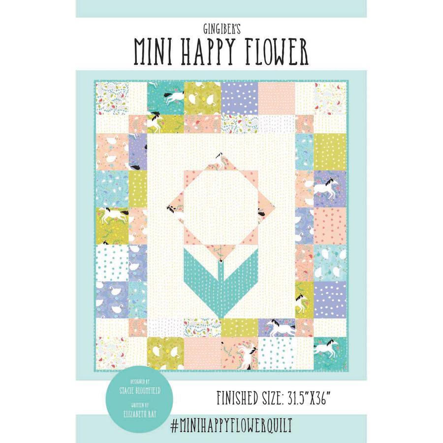 mini happy flower quilt pattern