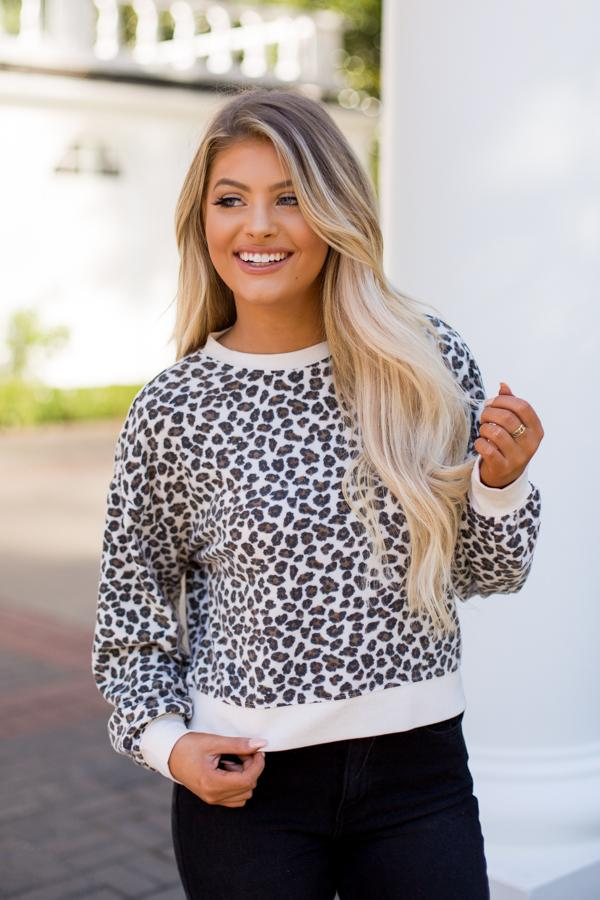 Image result for Z Supply Leopard Pullover- Natural