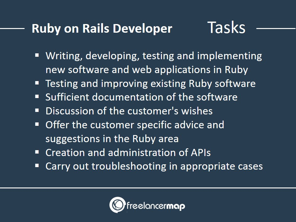 Ruby on Rails Developer - Responsibilities