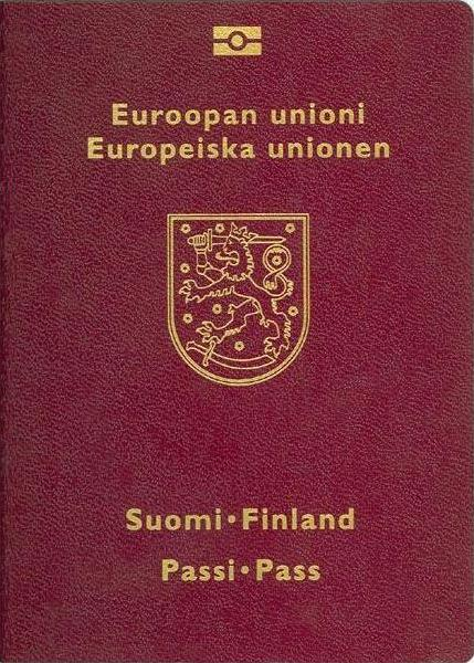 Finnish passport cover
