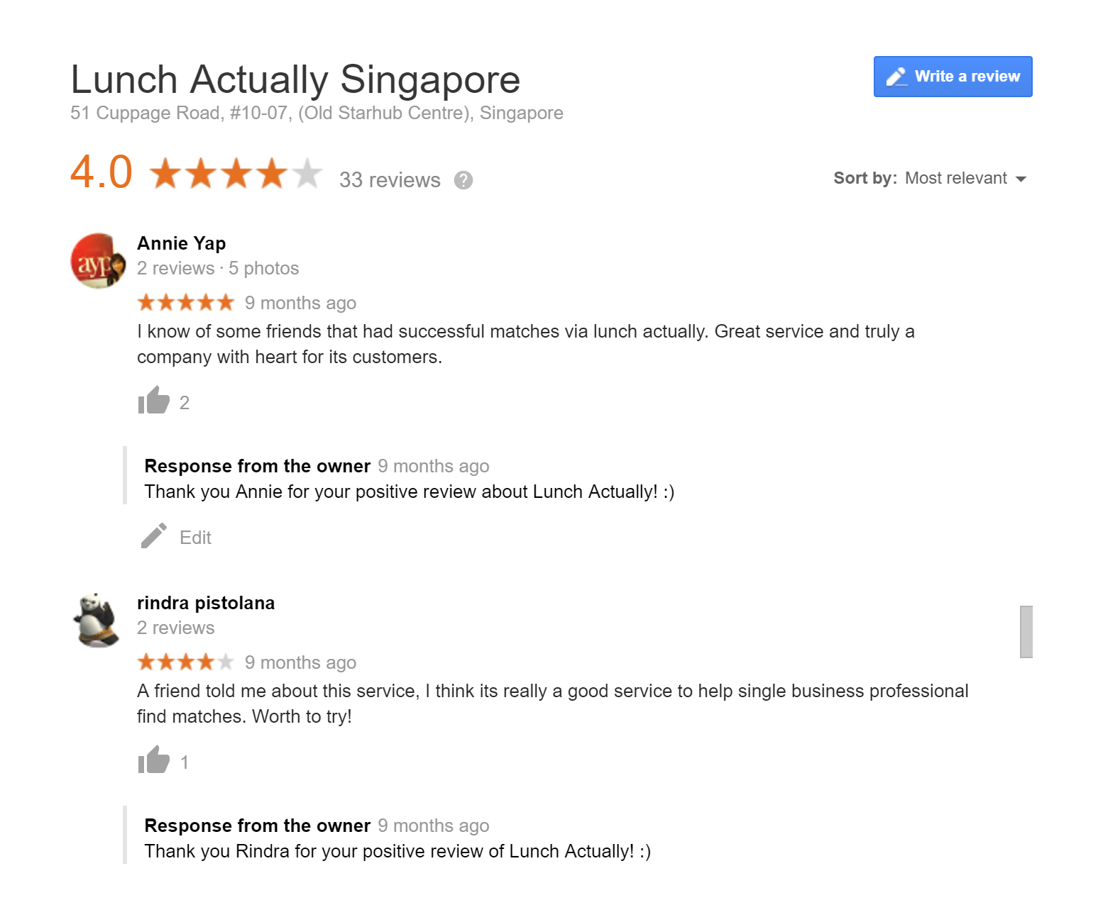 Lunch Actually Reviews
