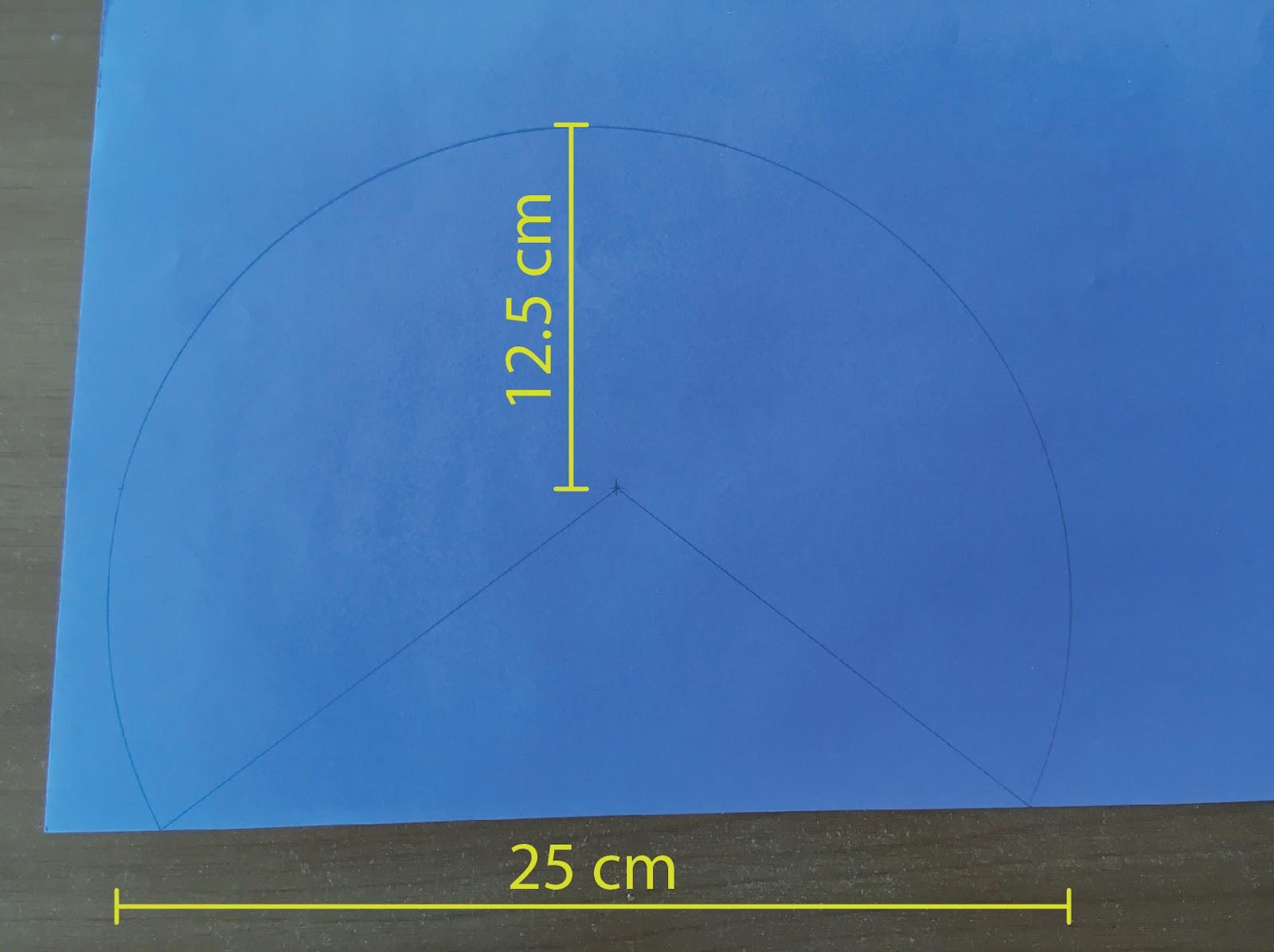 Medidas del arco y centro de la figura.