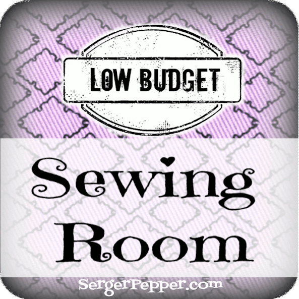 Low Budget Sewing Room Re-Do @ Serger Pepper