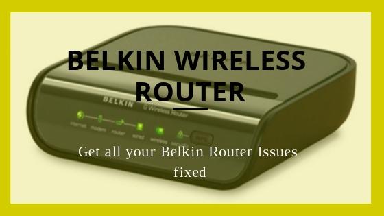belkin router url