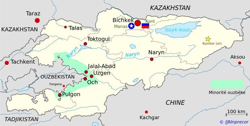 carte du Kirghizistan