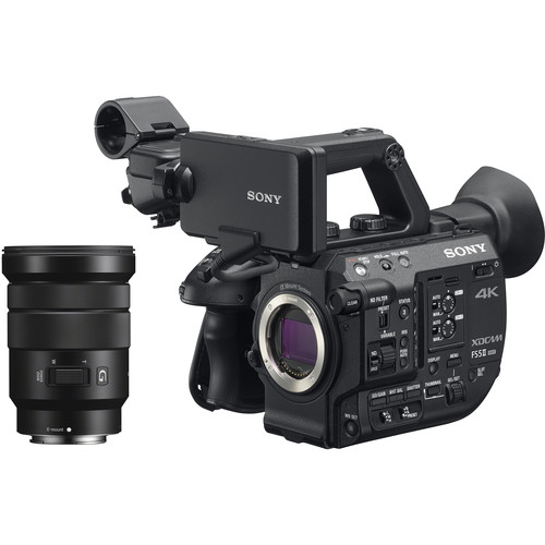 Sony PXW-FS5M2 4K XDCAM Super 35mm Compact Camcorder with 18 to 105mm Zoom Lens with Case (Porta Brace CS-DV4 Mini-DV Camcorder Case)