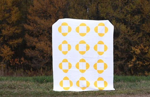 Sunny Side Up Monochrome Quilt