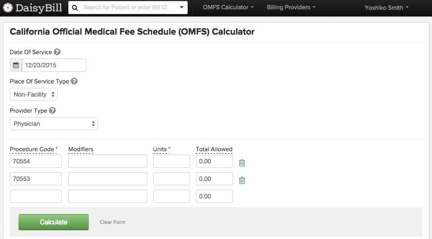 DaisyBill OMFS Calculator