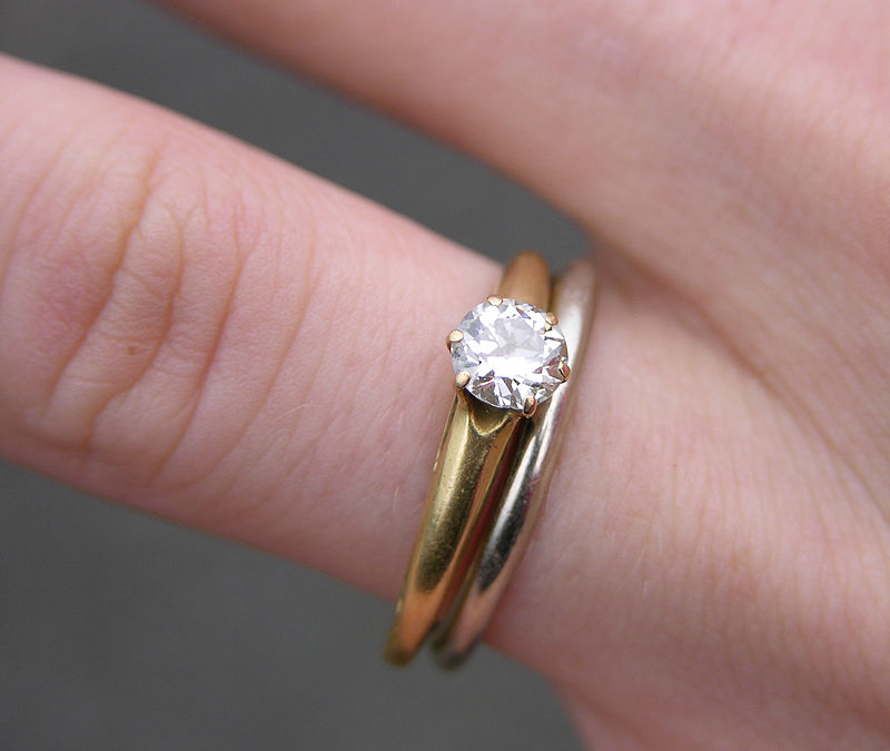 wedding ring with engagement ring (set)