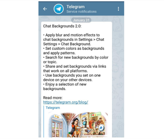 telegram product update