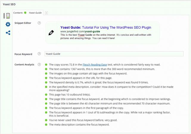 Dịch vụ SEO Content sử dụng Yoast SEO để phân tích bài viết