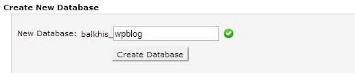 tạo cơ sở dữ liệu mới