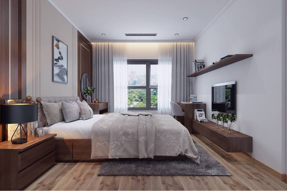 Thiết kế phòng ngủ chung cư tận dụng ánh sáng tự nhiên