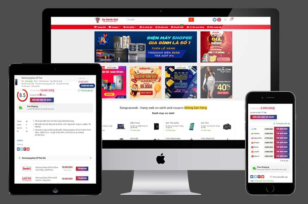 Web so sánh giá affiliate đa ngành hàng