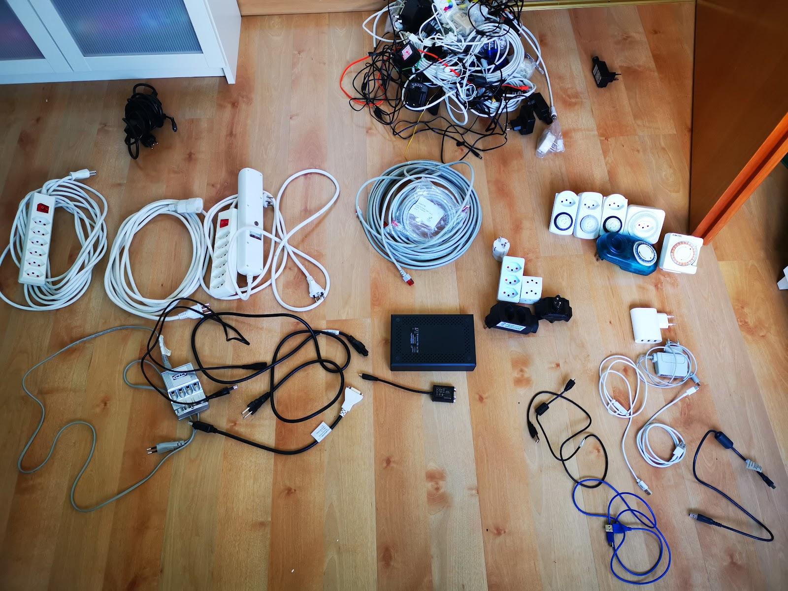 ordne kabel zu hause