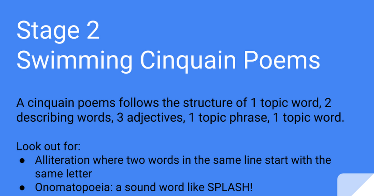Swimming Poems 5