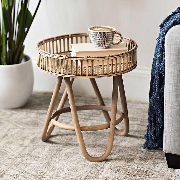 Meja Rotan - Rattan Coffee Table - sumber: www.kirklands.com