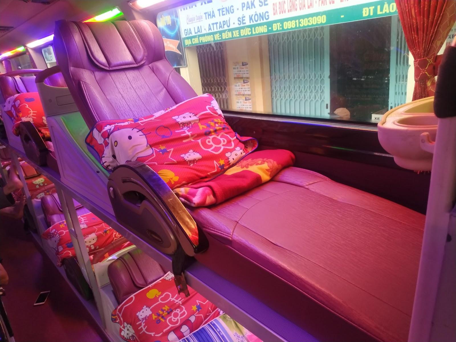 Nội thất xe Tân An đi Gia Lai từ Sài Gòn