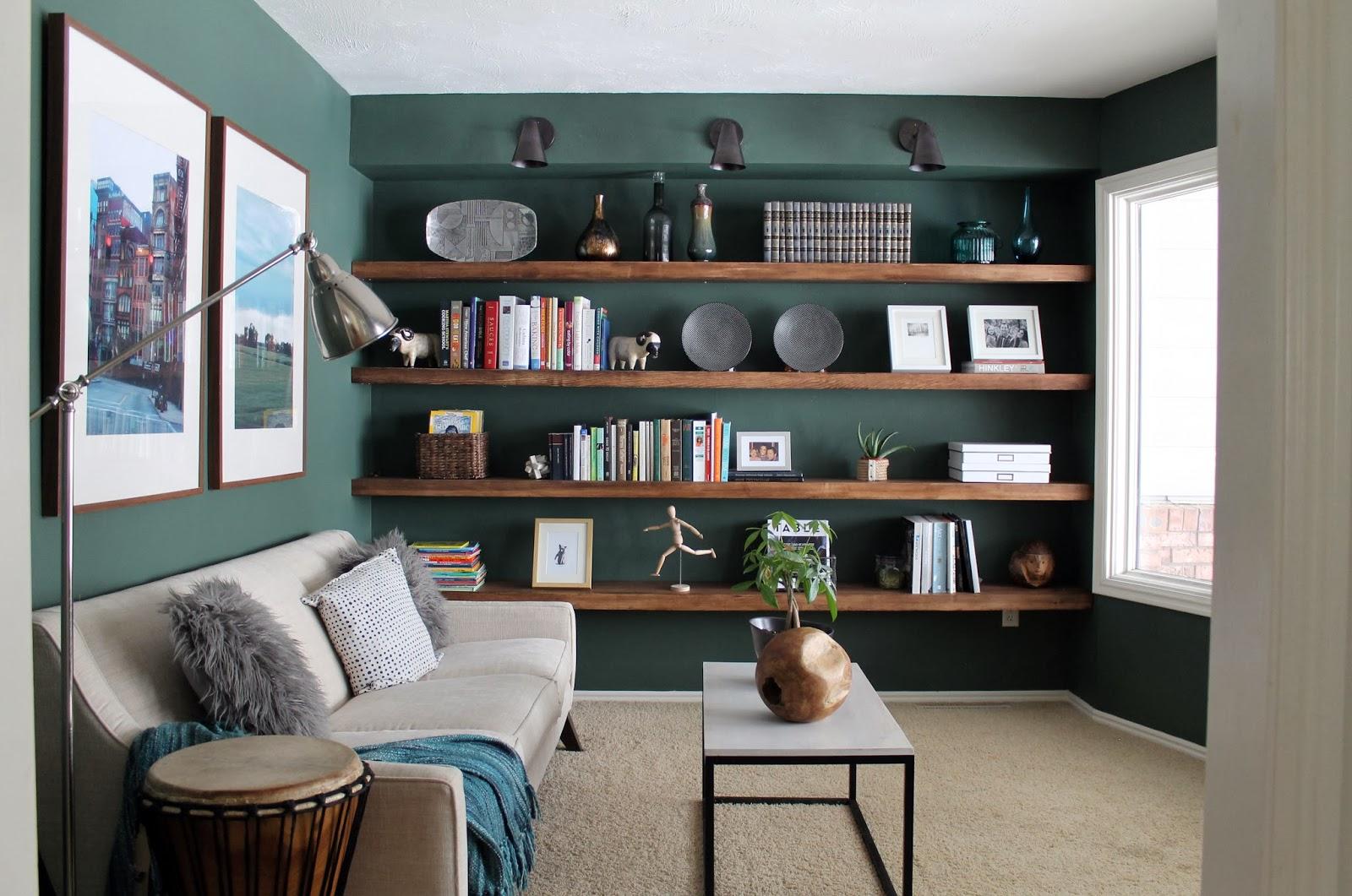 Không gian phòng đọc sách đẹp với sofa thư giãn