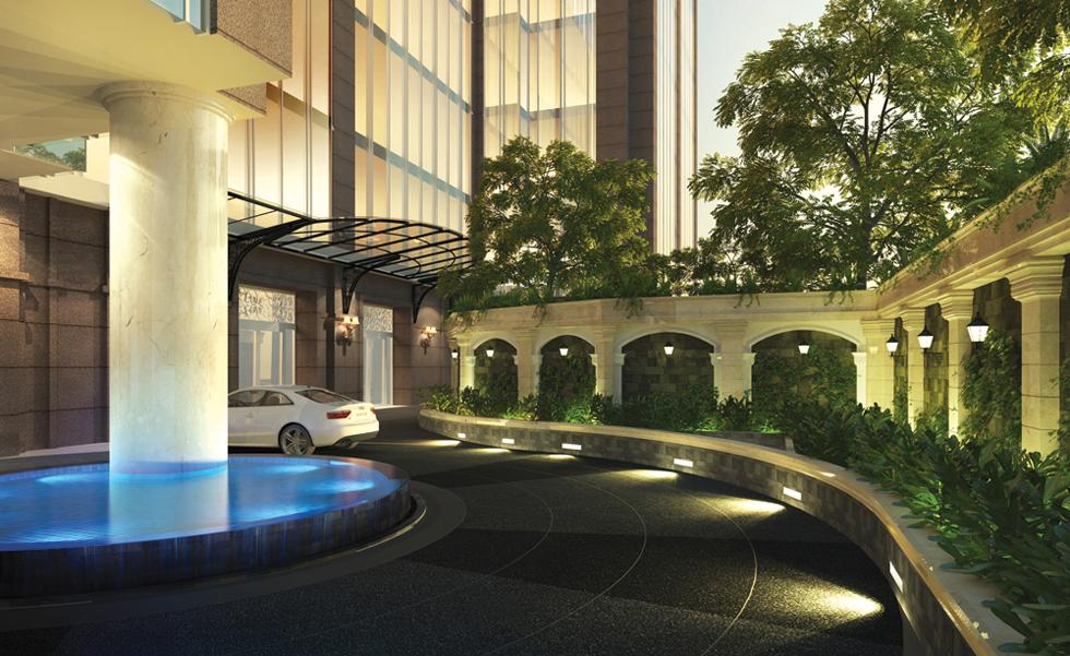Main entrance to Leman Luxury Apartments