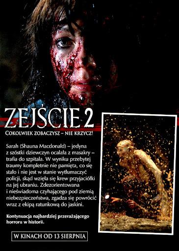 Tył ulotki filmu 'Zejście 2'