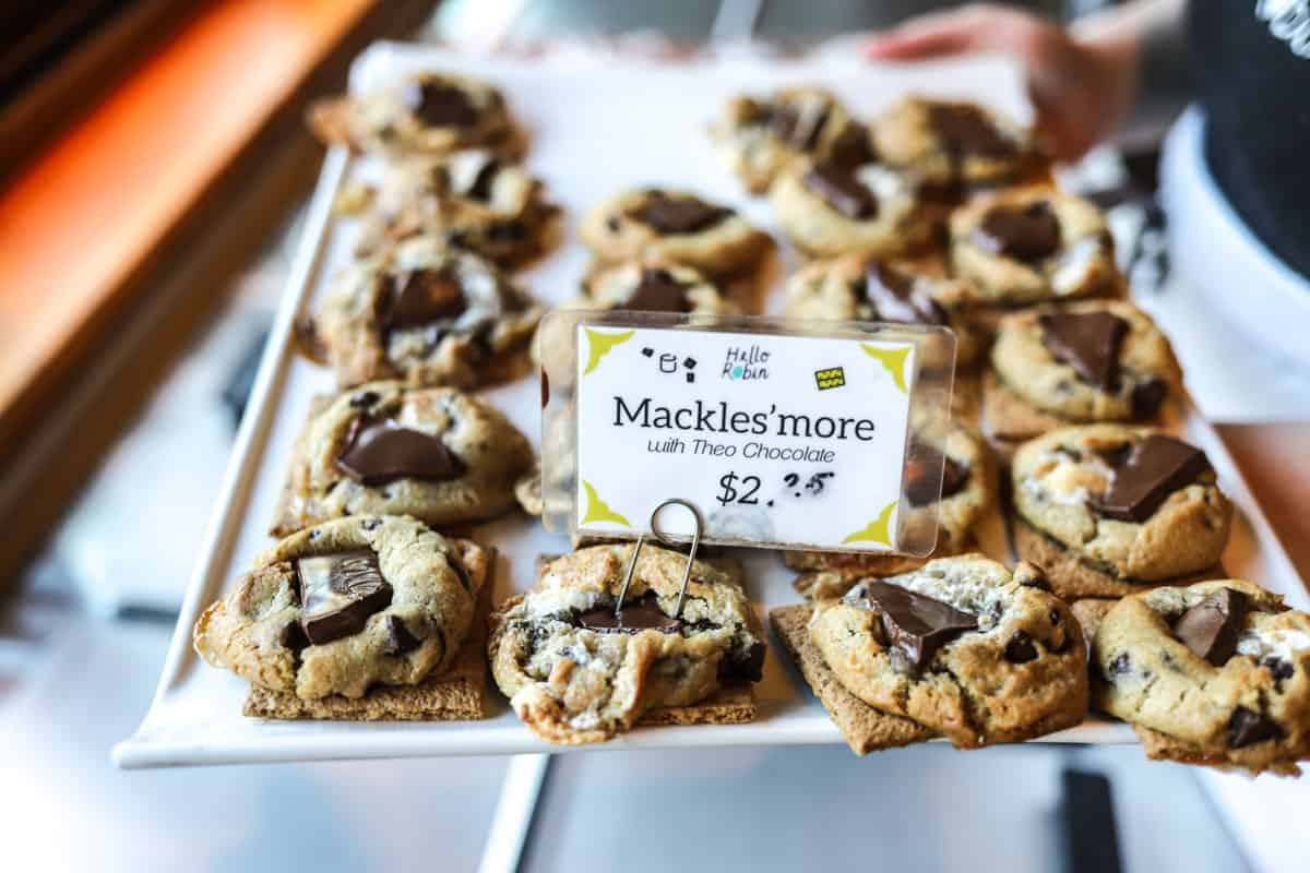 Mackles'more - a s'more cookie with Theo chocolate chunks at Hello Robin in Seattle