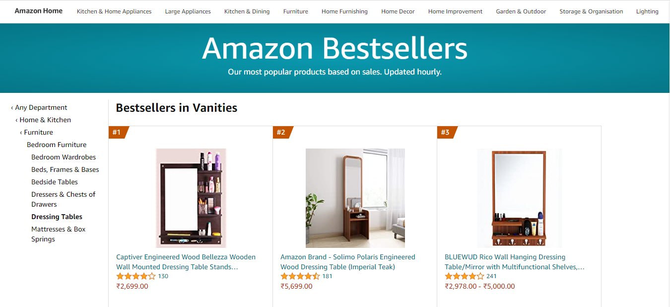 amazon best sellers in furniture category
