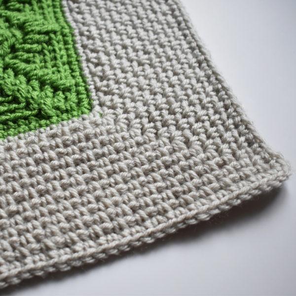 moss stitch crochet border