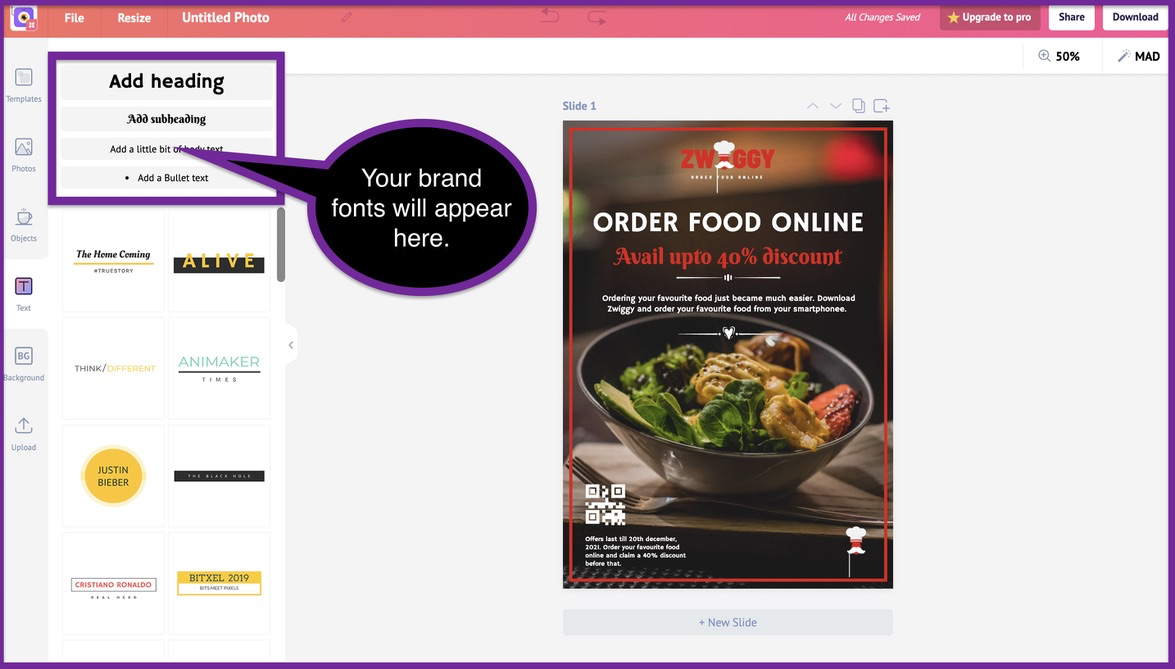 How to create a business flyer - step 8 -screenshot 7