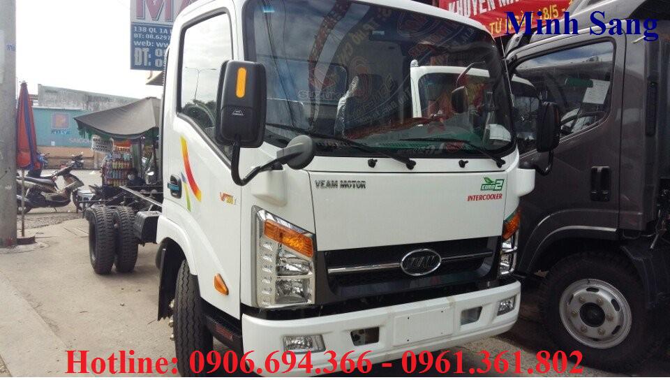 Bán xe tải veam 1T9/ 1 tấn 9/ 1.9 tấn thùng bạt giá rẻ giao ngay tại sài gòn, bình dương