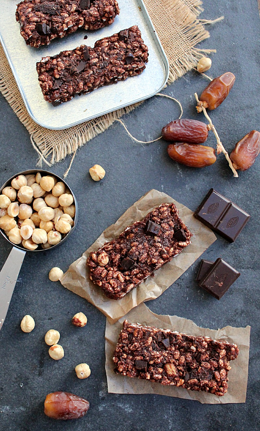 Double Chocolate Fudge Energy Bars {vegan & gluten free}