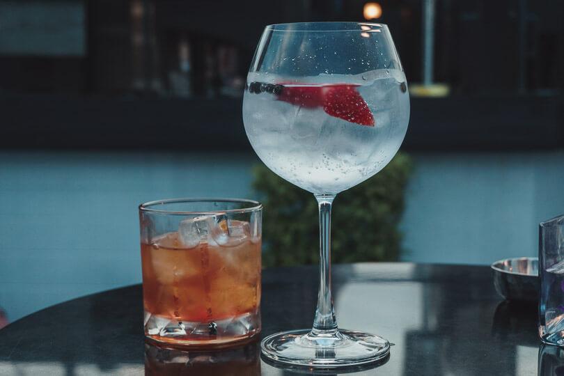 Cocktails from Vertigo and Moon Bar, at Banyan Tree Rooftop Bar in Bangkok.
