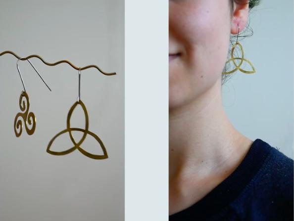 Hanging Metal Earrings