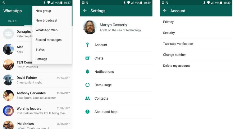 how to enable two step authentication on WhatsApp