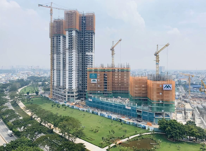 Tiến độ xây dựng dự án Eco Green