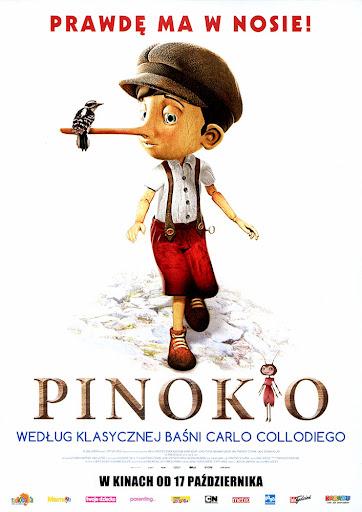 Przód ulotki filmu 'Pinokio'
