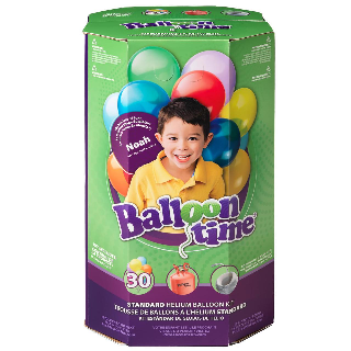 Balloon Time Kit with ballons, ribbon and helium