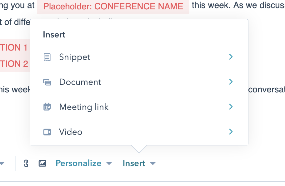 Saving time with HubSpot sales templates and snippets
