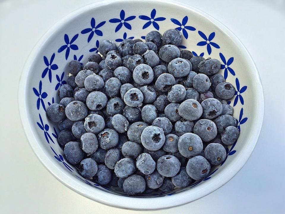 Blueberries, Fruit, Bowl ...